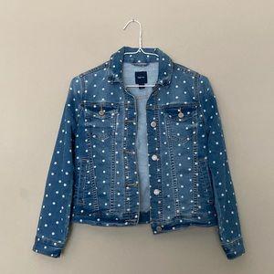 Girl's Polka Dot Denim Jacket